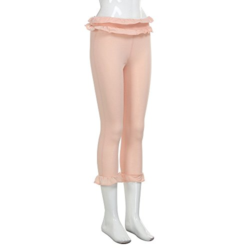 Topgrowth Donne Pantaloni Casual Ruffles Stretch Yoga Festa Casuale Crop Pants Ragazza Sottile Pantaloni a Matita Rosa
