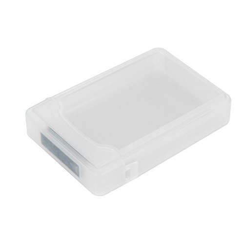 """Colorful Silikon Schutzhülle für Externe Festplatten/Festplattentasche / 2,5\"""" HDD Case, externes Festplattengehäuse für 2.5 Zoll Festplatte und SSD (Weiß)"""