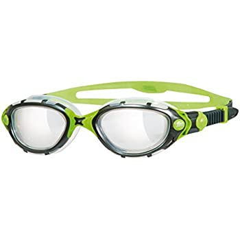 c2efb10ee09f Zoggs Predator Flex Titanium Lens Reactor Photo-Chromatic Swimming Goggles  - Black/Green