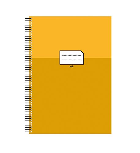 Miquelrius 47037 - Cuaderno escolar folio milimetrado, con margen amarillo, 80 hojas