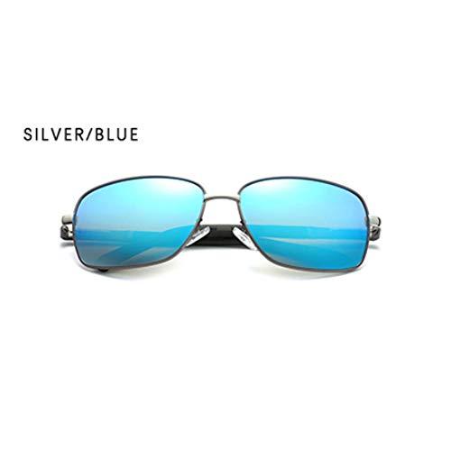Sonnenbrillen. Marke Vintage Polarisierte Sonnenbrillen Für Männer Square Fahren Schattierungen Männlichen Spiegelschicht Unisex Brille Sonnenbrille Uv400 Outdoor Reisen Sommer Staub Silber Blau