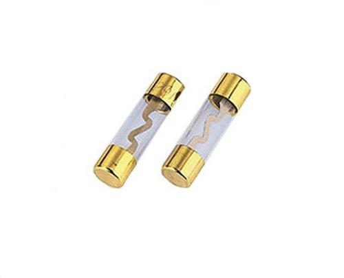 Hama Glassicherung (KFZ Feinsicherung, 10 x 38mm, 60A, vergoldet) 2 Stück