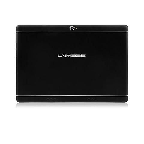 Lnmbbs Tablet 10.1 zoll HD IPS Display 1280*800 Tablet - PC - 3G Android Telefonieren (Quad - Core Prozessor, 2GB ROM, 16GB Speicher ,Dual - Kamera, Dual - SIM, WiFi, WLAN) - GPS - Navigation, mit Spezialangeboten (Schwarz)