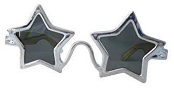 Silber Stern Elton John Sonnenbrille Brille Kostüm - John Lennon Kostüm Brille