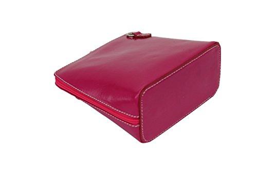 Ambra Moda Piccola Borsa In Pelle, Tracolla, Tracolla, Discotasche Vl508 Rosa