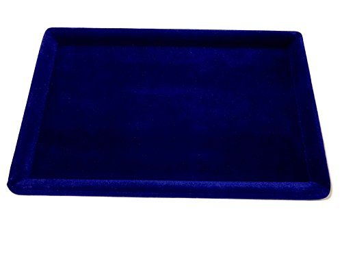 Girija Blue Velvet Display Tray DARK NAVY BLUE SHADE