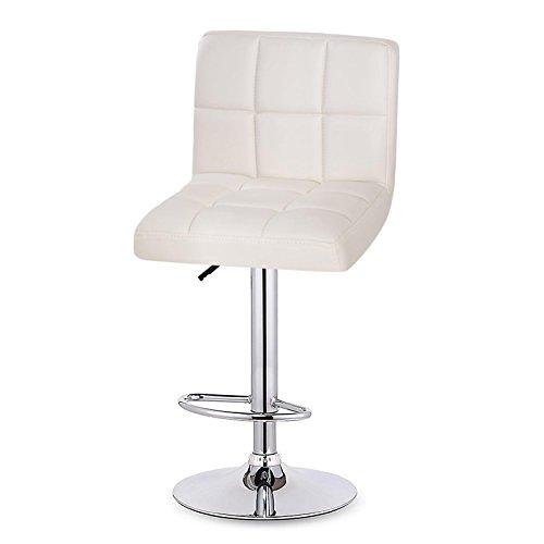 Weiß Kunstleder 5 Stück (cooshional cooshional 2er Set Esszimmerstuhl Weiß aus Kunstleder Küchenstuhl ,gepolstert, Sitz drehbar und höhenverstellbar)