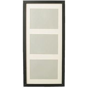 ikea bilderrahmen ribba 3 er rahmen inkl passepartout glasscheibe schwarz. Black Bedroom Furniture Sets. Home Design Ideas