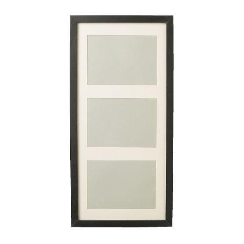 """IKEA Bilderrahmen \""""Ribba\"""" 3-er Rahmen INKL. Passepartout - Glasscheibe (Schwarz)"""