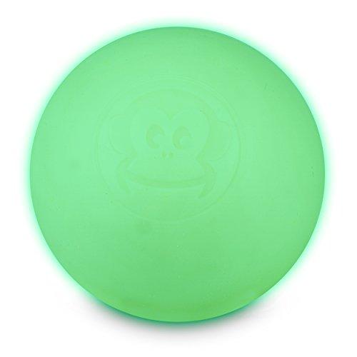 all Original - Lacrosseball in der Farbe Glow In The Dark, leuchtet im Dunkeln, aus Hartgummi, mit den Maßen 6 x 6 cm geeignet für Triggerpunkt- & Faszienmassage/Crossfit ()