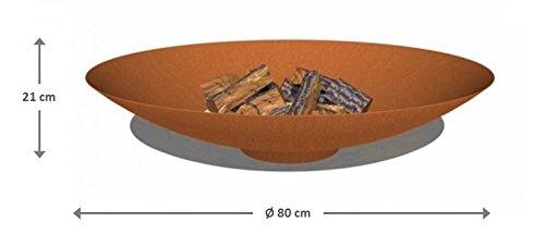 Brasero acier Corten Acier Ø 80 cm