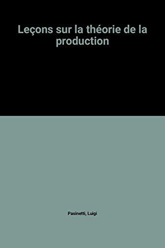 Leons sur la thorie de la production
