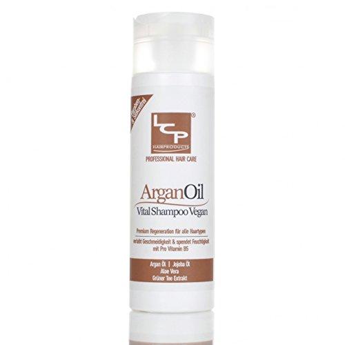 Vital Arganöl Haarshampoo 100% Vegan - Aloe Vera - Jojoba Öl - Algen-, Grüner Tee Extrakt - ohne Silikone u. Parabene (Grüner Tee-öl-extrakt)