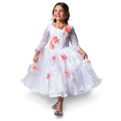 Belle Deluxe White Feier Kostüm Kleid für Kinder, Schönheit und das Biest, Sammlung, Größe 5-6 - Lumiere Kind Kostüm