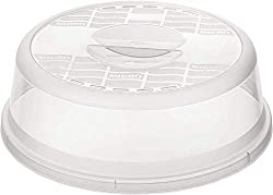 Rotho Basic Mikrowellenabdeckhaube, Kunststoff (BPA-frei), transparent, (26,5 x 26,5 x 6,5 cm)
