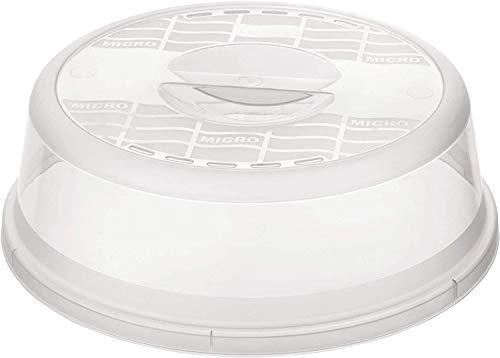 Rotho Basic Mikrowellenabdeckhaube, Kunststoff (BPA-frei), transparent, (26,5 x 26,5 x 6,5 cm) -