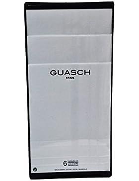 Guasch - Pack 6 Pañuelos Hombre GUASCH Blancos 100% Algodón - BLANCO, U