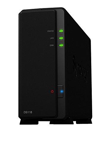 Synology Disk Station DS118Server NAS 1Bay, Quad Core 1,4GHz CPU, 2X USB 3.0, 1X RJ45