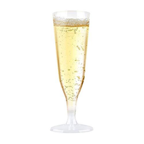 r für Party Einweg Plastik Champagner Sektgläser (30 Stück 125 ml) - Party Drink für Sommer Pool Beach Geburtstag Hochzeitsfeiern Aktivitäten ()