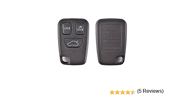 Coque CLE 3 boutons pour telecommande VOLVO S40 V40 S70 C70 V70 FOB case