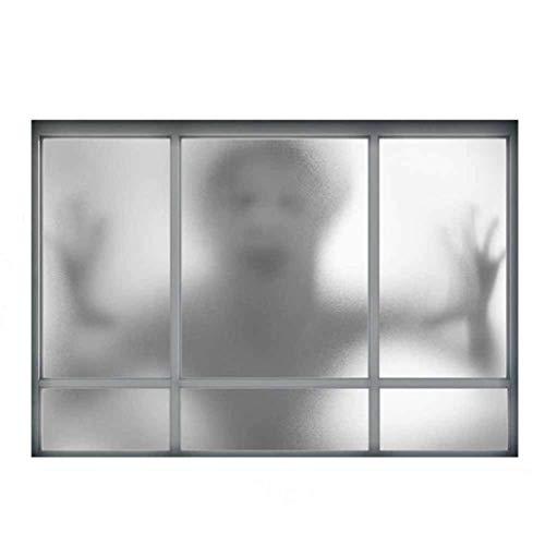 Ximi adesivi murali 3d fantasmi finestra finta per fantasmi adesivi murali terrore di halloween camera per la casa decorazione murale decalcomania smontabile