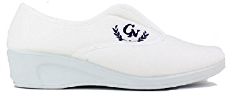 Natalia - Inglesita Cuña Baja Blanco  Venta de calzado deportivo de moda en línea