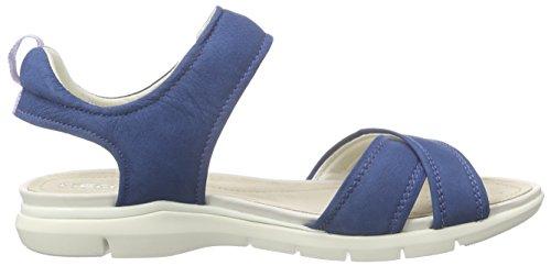 Geox D SANDAL SUKIE B, Sandales ouvertes femme Blau (DENIMC4008)