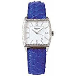 Wristwatch strap rectangular woman in purple leather ALTANUS 16105D