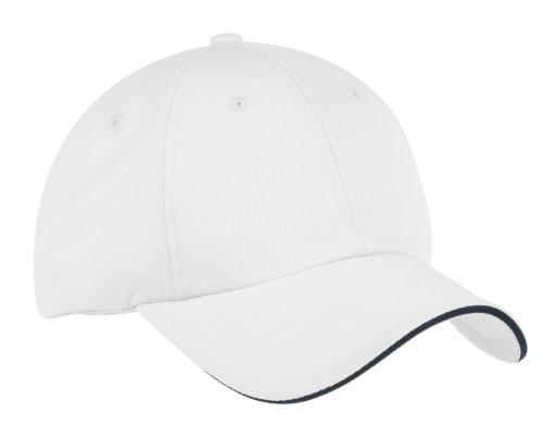 Port Authority® Dry Zone® Cap. C838 White/ Classic Navy OSFA Port Authority Classic Cap