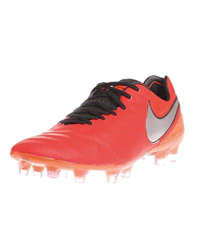 Nike Tiempo Legend Vi Fg, Chaussures de Foot Homme, Gris, UK Orange / argenté / rouge (pourpre vif / argenté métallique - pourpre total)
