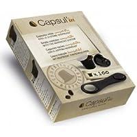 Capsul'in Capsules de café Nespresso ® - Alternative aux machines Nespresso® en ligne - Bio Lungo Fairtrade Pure Origin Grand Crus - capsules DIY., Noir , 2 - Pack