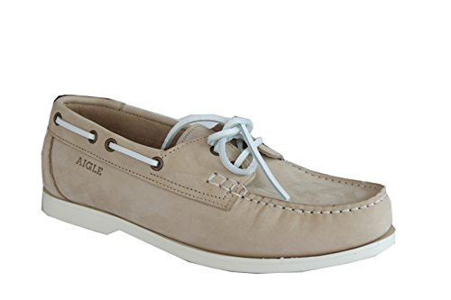 Aigle , Chaussures de bateau femme Classic Beige