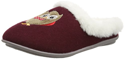 Lotus Beka, Chaussons montants femme Rouge (burgundy)