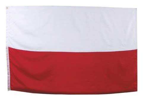 POLNISCHE FAHNE mit 2 Ösen 90x150cm Flagge Polen Hissflagge Hissfahne Fahnen (Polnische Flagge)