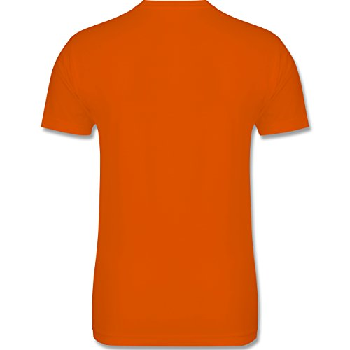 Shirtracer Halloween - Gruseliges Kürbis-Gesicht - Herren T-Shirt Rundhals Orange
