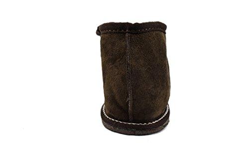 Zerimar Pantoffeln für Zuhause (Innen Fell von Außen Leder) Hausschuhe Winter Braun