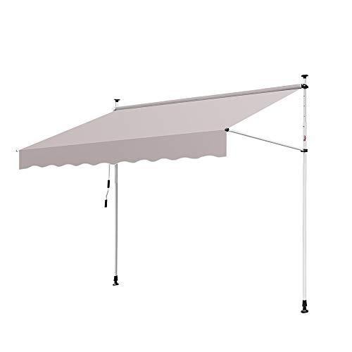 Hengda Toldo articulado con armazón 150 * 120cm Toldo Extensible Enrollable terraza...