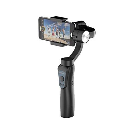 Soporte de mano para 5 smartphones, con mango Gimbal, estabilizador de soporte, selfie, fotografía digital con APP, estabilizador de teléfono inteligente para disparo vertical horizontal, negro