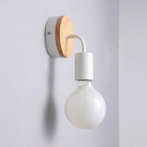 Badezimmer-eitelkeit-wand-spiegel (Vinteen Kreative Holz moderne minimalistische Badezimmer Spiegel vorne Eitelkeit Badezimmer LED Wand Lampe Nordic Wandleuchte Schlafzimmer Nachttisch energiesparende Wandleuchte)