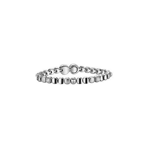 Breil-Bracciale da donna in acciaio inox con cristallo bianco 21cm-tj1453