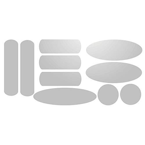 Kit de 10 stickers adhésifs réfléchissants pour signalisation sur casque Blanc Réfléchissant