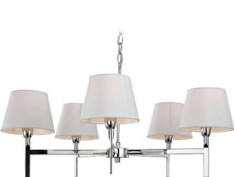 """Kronleuchter""""Transition"""" in Creme/Stahl rostfrei poliert Anzahl der Leuchtmittel: 5"""