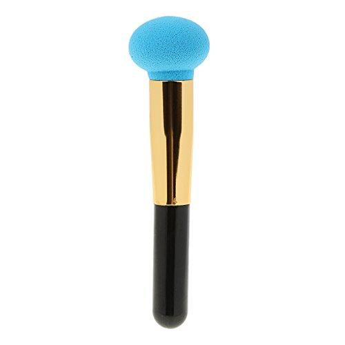 Pinceau de Maquillage Cosmétique Beauté de Visage Makeup Sponge Brush Make Up Powder Puff Kit -bleu - Bleu