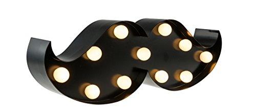 rrbart schwarz mit LED Beleuchtung in 12