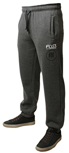 Fly53 -  Tuta da ginnastica  - Uomo Heather Charcoal Marl