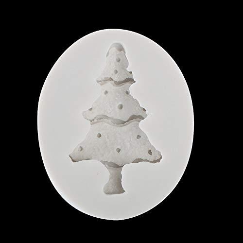 WFZ17 Silikonform für Fondant, Schokolade, Kuchendekoration, Backen Christmas Tree (Topper Tree Western)