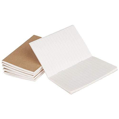 6Packs 100gsm Blanko und Liniertes Papier Reisende Notebook Refill Dicke Passport Größe Tagebuch