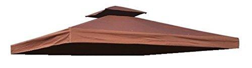 habeig Ersatzdach 310g/m² Wasserdicht, circa 3 x 3 m, Pavillondach Wasserfest, braun, 298 x 298 x 18 cm, 73042