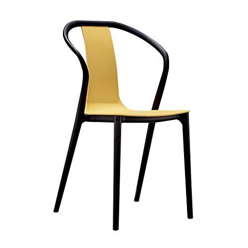 Kinder Stuhl einfache Lounge Stuhl Cafe Restaurant Tür Shop Esstisch Stuhl Hocker Bar Stuhl Stuhl Home Dining Stuhl modernen minimalistischen (Color : Yellow) -