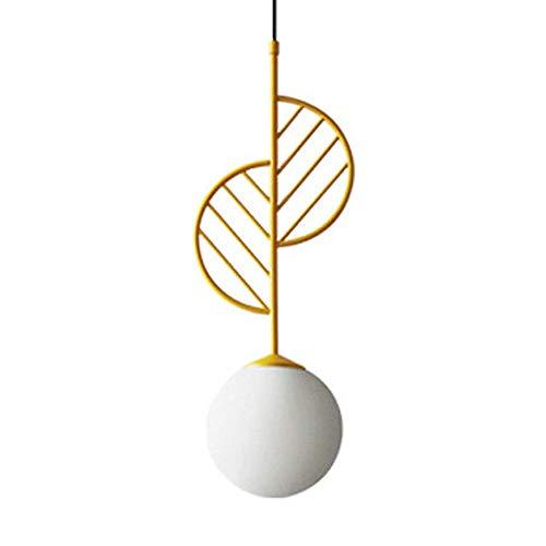 XINYU Nordic Mini Metal Chandelier Lighting, Creative Macaron lampara, Pantalla en Forma de Hoja, Minimalista Art Deco Lámparas de Techo Isla de Cocina/Sala de Estar/Comedor Lámpara Colgante